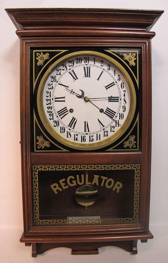 c 1980's aft Ingraham Regulator Calendar Wall Clock H-C ...